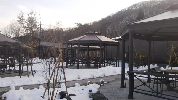 受賞した隣接する野外型フードコート「石見の杜 星空のレストラン」